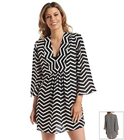 Ivanka Trump® Chevron Tunic Cover Up