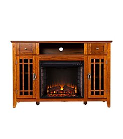 Southern Enterprises Lahart Electric Media Fireplace - Mission Oak