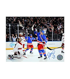 Steiner Sports Memorabilia Men's Ryan McDonagh Signed Celebrating Game Winning Goal 8x10 Photo