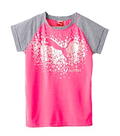 PUMA® Girls' 2T-6X Short Sleeve Extended Stars Tee