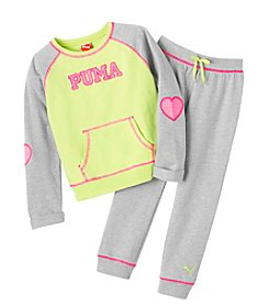PUMA® Girls' 2T-6X French Terry Love Sparkle Set