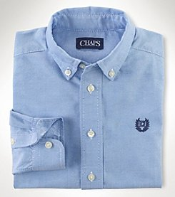 Chaps® Boys' 2T-7 Long Sleeve Oxford Button Up Shirt