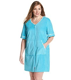 Jasmine Rose® Plus Size Zip Robe