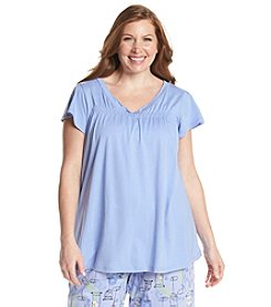 HUE® Plus Size Flutter Sleeve Sleep Tee
