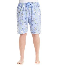 HUE® Plus Size Flower Cocktail Bermuda Shorts