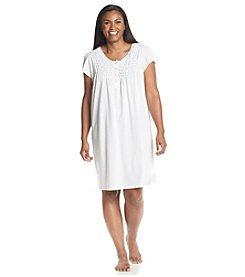 Miss Elaine® Plus Size Silky Sleep Shirt Gown