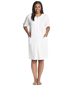 Miss Elaine® Plus Size Snap Button Robe