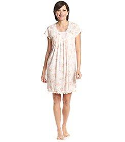 Miss Elaine® Peach Floral Gown