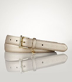 Lauren Ralph Lauren Stingray Belt with Sculpted Endbar Buckle