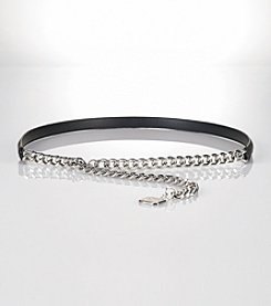Lauren Ralph Lauren Chain Belt with Hanging Charm