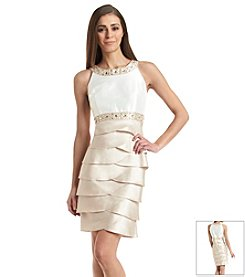 Jessica Howard® Petites' Beaded Shutter Skirt Dress