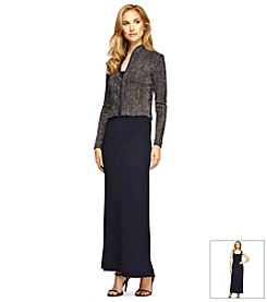 Alex Evenings® Jacket Sparkle Maxi Dress