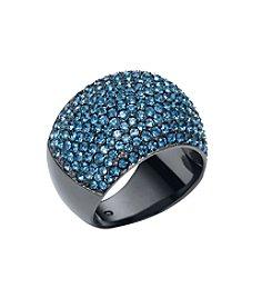 Michael Kors® Montana Pave Dome Silvertone Ring