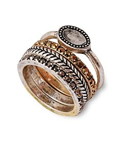 Lucky Brand® Organic Two-Tone Stone Stack Ring