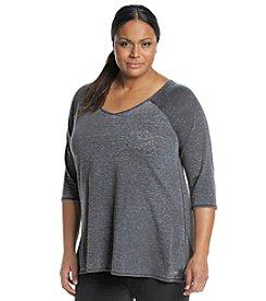 Calvin Klein Performance Plus Size Distressed Tunic