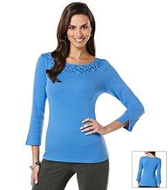 Rafaella® Petites' 3/4 Sleeve Knit Top