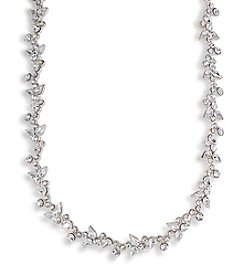 Carolee® The Avery Floral Crystal Silvertone Necklace