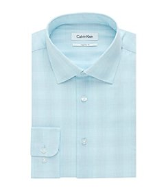 Calvin Klein Men's Long Sleeve Regular Fit Plaid Dress Shirt