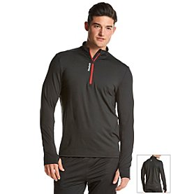 Reebok® Men's 1/4 Zip Essential Long Sleeve Performance Tee