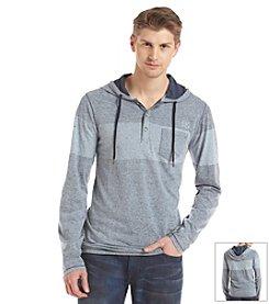 DKNY JEANS® Men's Buttoned Slub Hoodie Tee