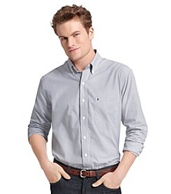 Izod® Men's Big & Tall Long Sleeve Striped Woven Shirt