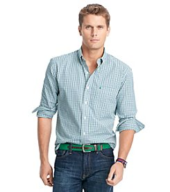 Izod® Men's Big & Tall Long Sleeve Tattersal Woven Shirt