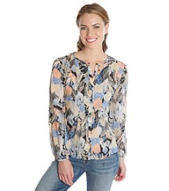 Lucky Brand® Floral Print Long Sleeve Top