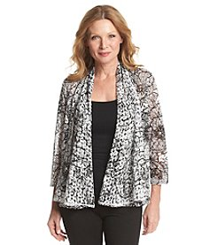 Ruby Rd.® Blueprint Shawl Collar Pop Lace Cardigan
