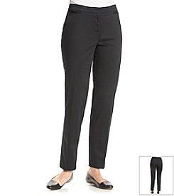 Ruby Rd.® Blue Print Solid Pull On Sateen Pant