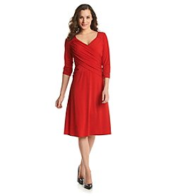 Notations® Solid Cross Over Dress