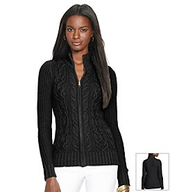 Lauren Ralph Lauren® Cable-Knit Full-Zip Cardigan