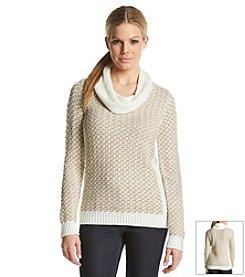 Calvin Klein Basket Weave Cowlneck Sweater