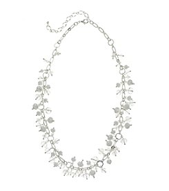 BT-Jeweled White and Silvertone 18