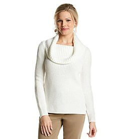 Anne Klein® Long Sleeve Cowlneck Pullover