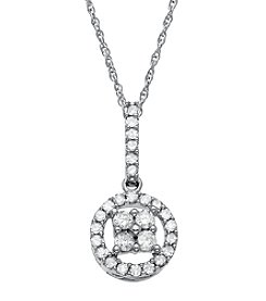 0.25 ct. t.w. Diamond Pendant Necklace in 10K White Gold
