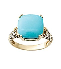 Effy® Turquoise and 0.22 ct. t.w. Diamond Ring
