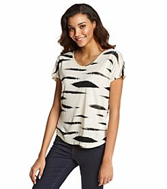 Kensie® Animal Stripe Tee