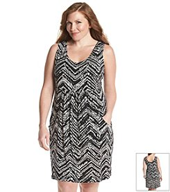 J. Valdi® Plus Size Deep Pocket Cover Up Dress