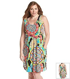 J. Valdi Plus Size Deep Pocket Cover Up Dress