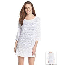 J. Valdi® Sea Scallop Tunic Cover Up