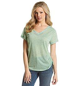 Gloria Vanderbilt® Emma V-Neck Confetti Shirt