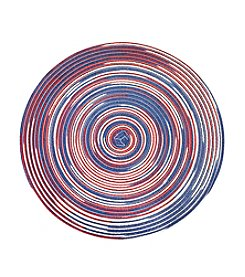 LivingQuarters Heathered Americana Round Placemat