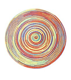 LivingQuarters Rainbow Heathered Easter Round Placemat