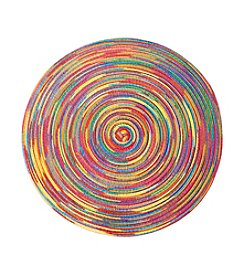 LivingQuarters Rainbow Heathered Summer Round Placemat