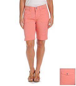 Lee® platinum label Solid Relaxed Fit Bermuda Shorts