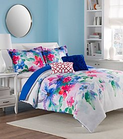 LivingQuarters Loft Watercolor Flower 5-pc. Comforter Set