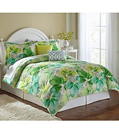 LivingQuarters Loft Green Leaf 5-pc. Comforter Set
