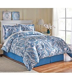 LivingQuarters Beth Paisley 4-pc. Comforter Set