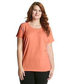 Exertek® Plus Size Short Sleeve Curved Tee
