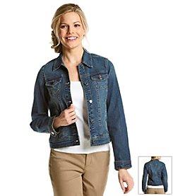 Relativity® Button Down Denim Jacket